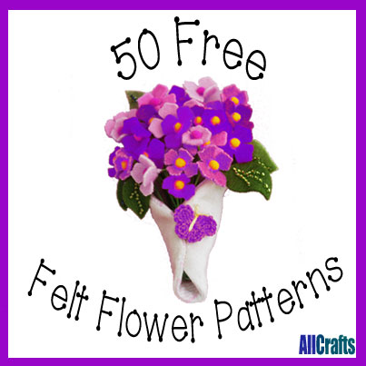 50 Free Felt Flower Patterns
