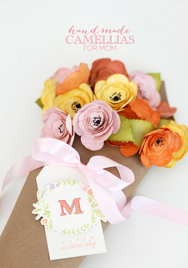 Handmade Camellias for Mom