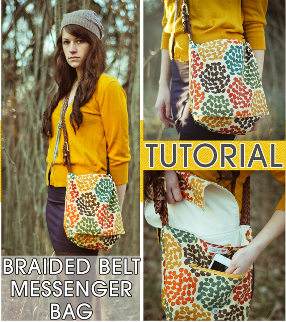 Braided Belt Messenger Bag Tutorial