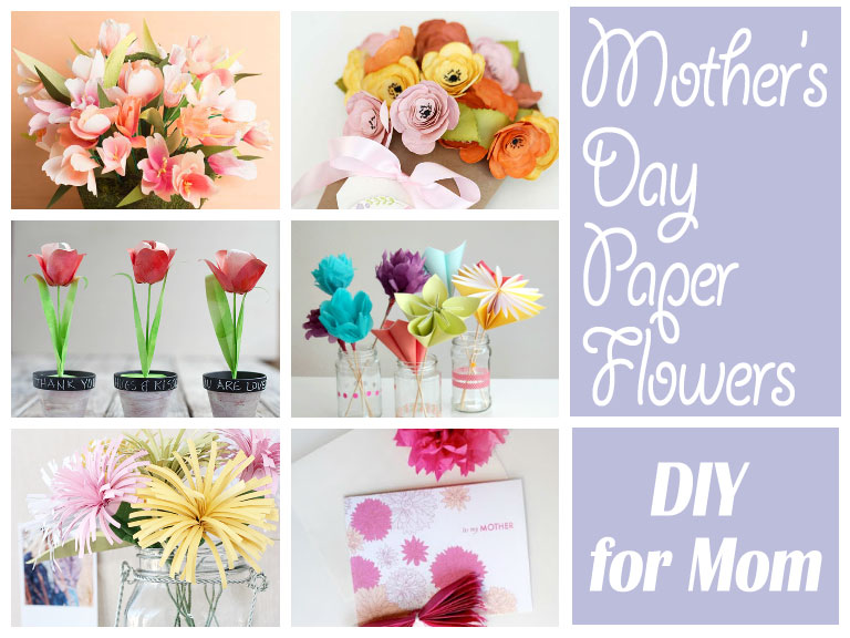 Mother's Day Paper Flowers DIY
