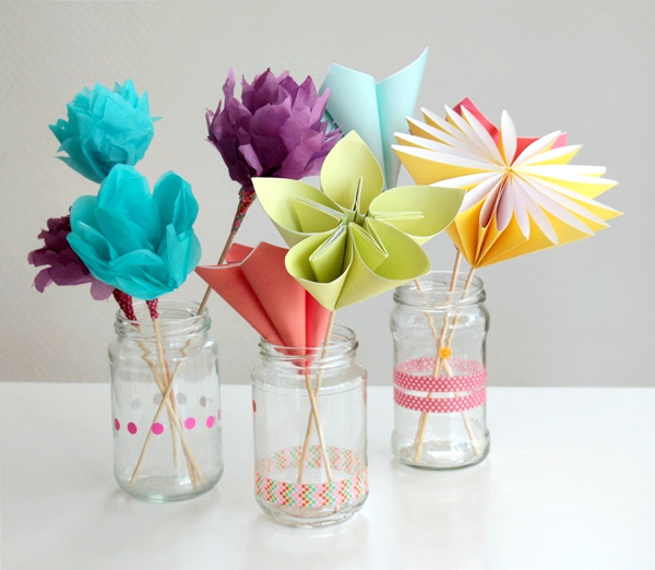 Paper Flower Mother's Day Bouquet