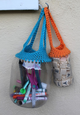 Recycled Crochet Totes