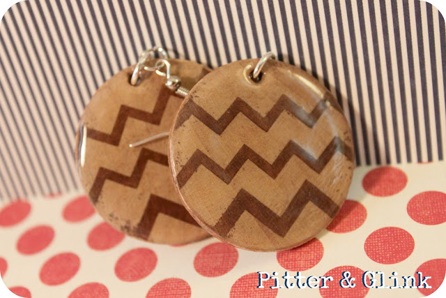 DIY Chevron Wooden Earrings