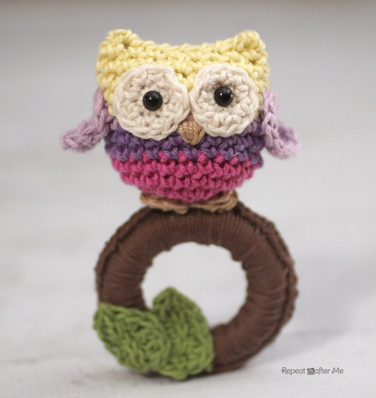 Crochet Owl Ring Baby Toy Pattern