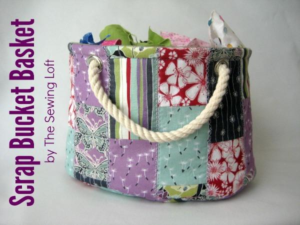 Scrap Bucket Basket Sewing Pattern