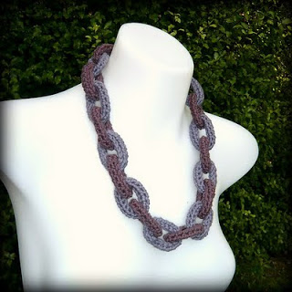 Crochet Chain Link Necklace Tutorial