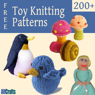 200+ Free Toy Knitting Patterns   AllCrafts Free Crafts Update