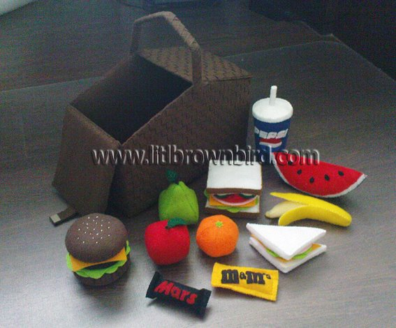 Free Felt Picnic Basket And Food Patterns Allcrafts Free Crafts Update