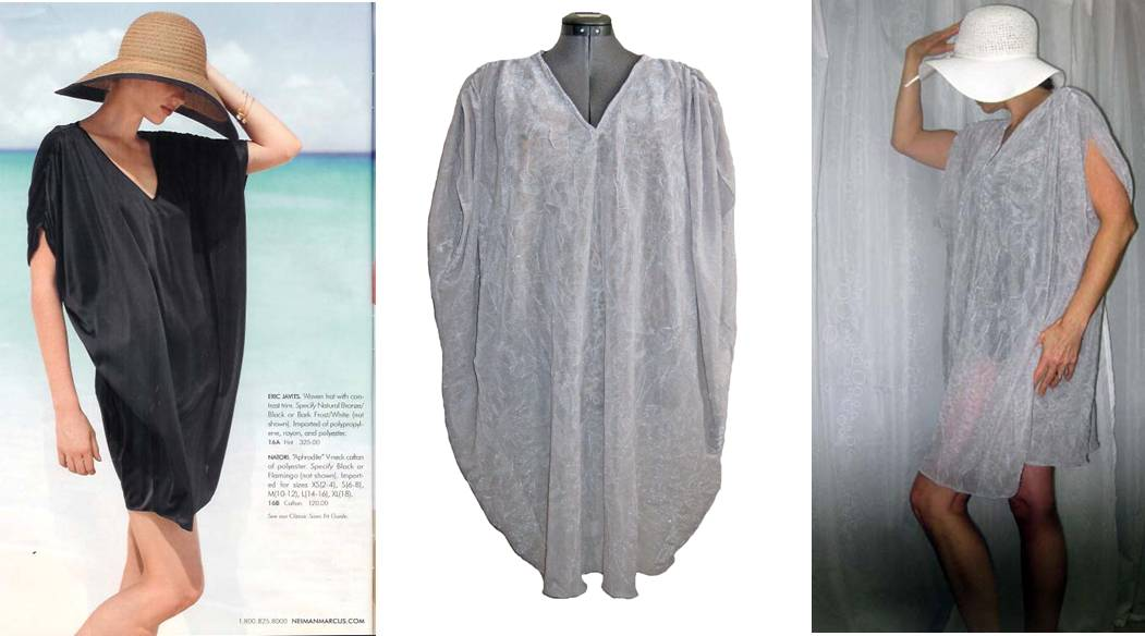 Love the easy and elegant fit of this gauzy beach cover up tutorial