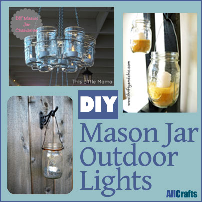 DIY Mason Jar Outdoor Lights