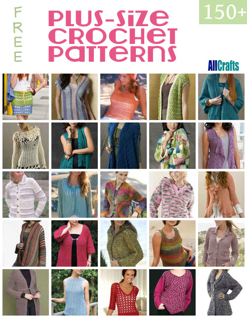 Free Crochet Patterns For Plus Size : 150+ Free Plus-size Crochet Patterns ? AllCrafts Free ...