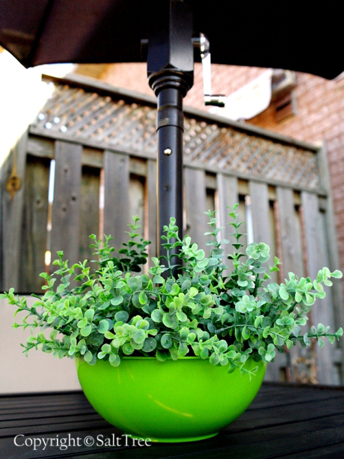 DIY Patio Umbrella Planter