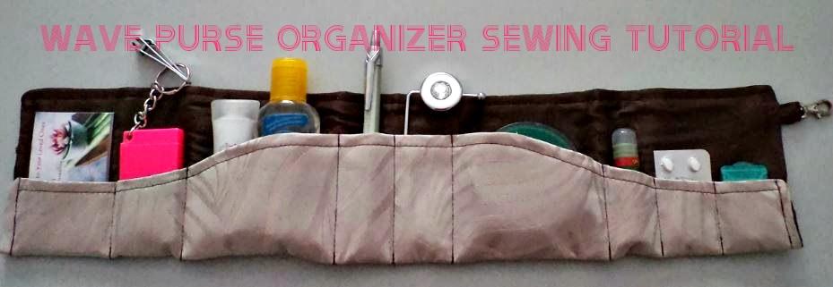 Wave Purse Organizer Sewing Tutorial