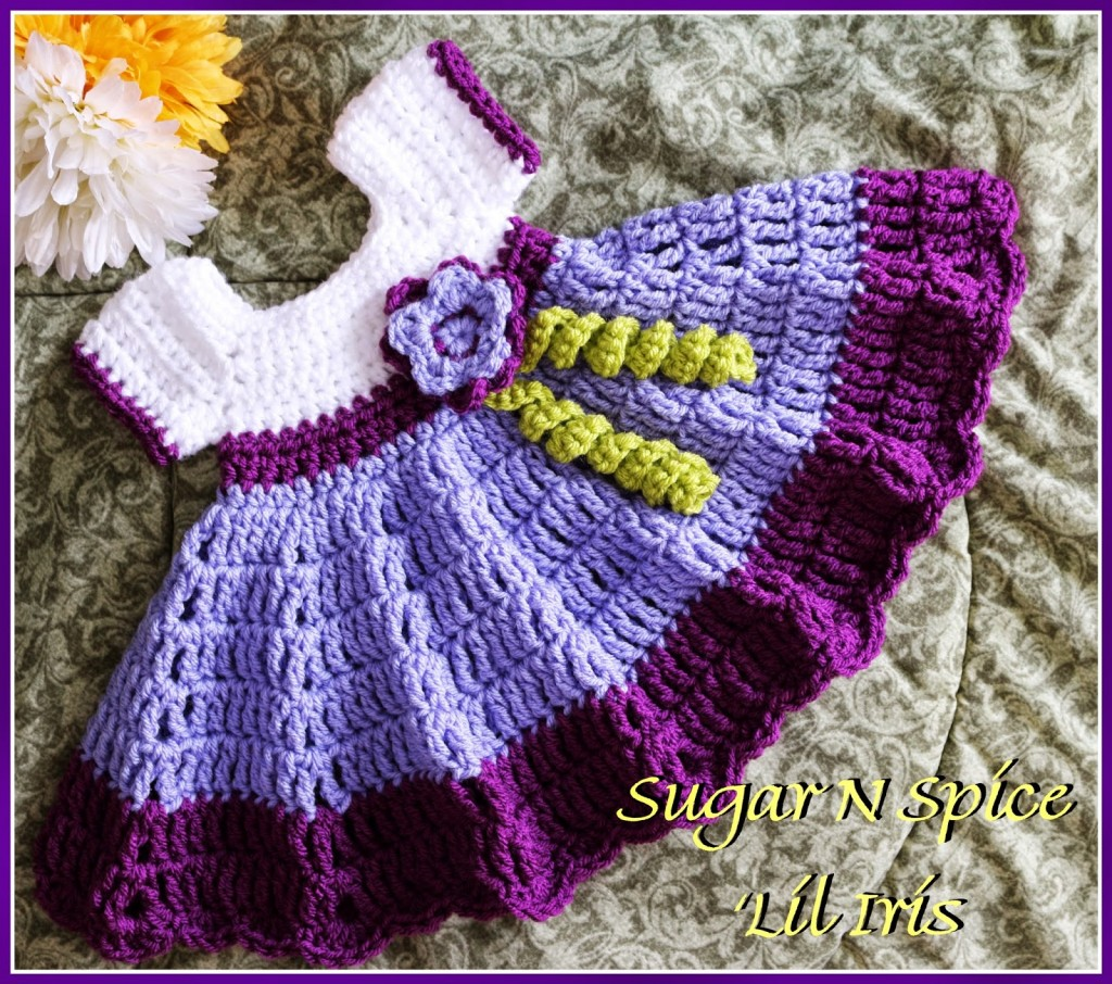 How To Crochet Baby Dress Pattern : Sugar N Spice Baby Dress Free Pattern ? AllCrafts Free ...