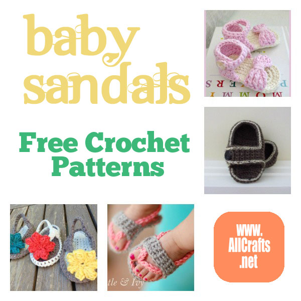 Baby Sandals Free Crochet Patterns – AllCrafts Free Crafts ...