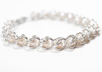 Chain Maille Pearl Bracelet Tutorial