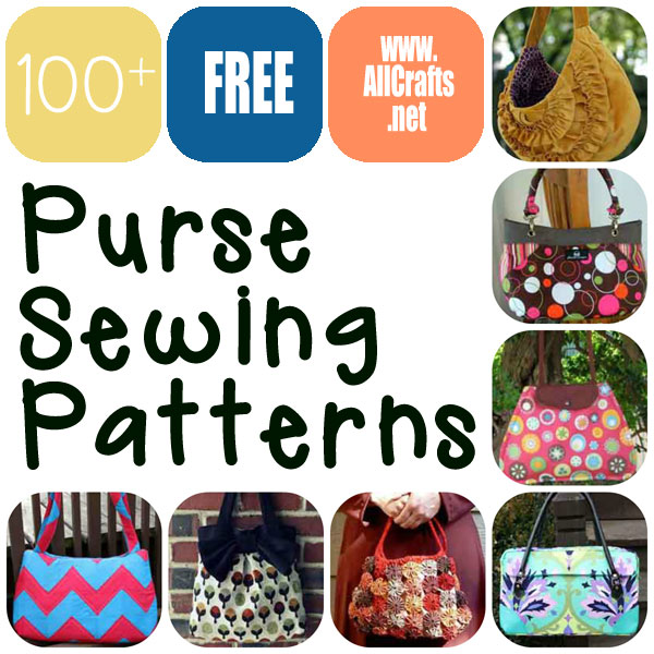 100+ Free Purse Sewing Patterns