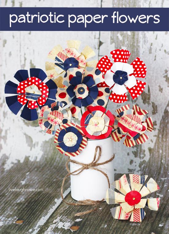 Patriotic Paper Flowers Tutorial