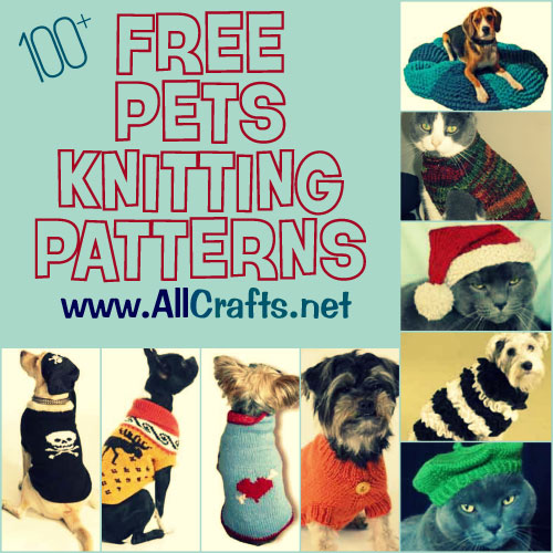 100+ Free Pets Knitting Patterns   AllCrafts Free Crafts Update