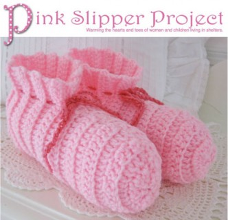 Crochet Pink Slipper Pattern