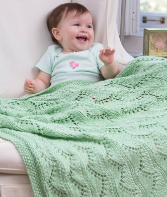 http://www.redheart.com/free-patterns/lace-chevrons-baby-blanket