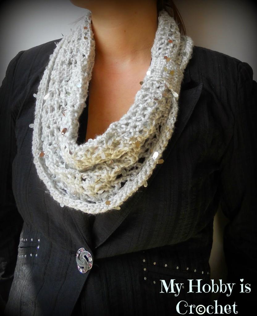 Swanky Glam Cowl Free Crochet Pattern