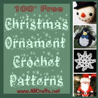 100+ Free Christmas Ornament Crochet Patterns