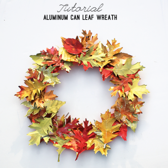 Upcycled Aluminum Can Fall Wreath