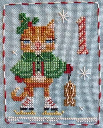 Free Animal Advent Cross Stitch Pattern
