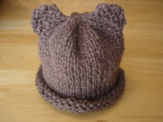 Free Bear Hat Knitting Pattern