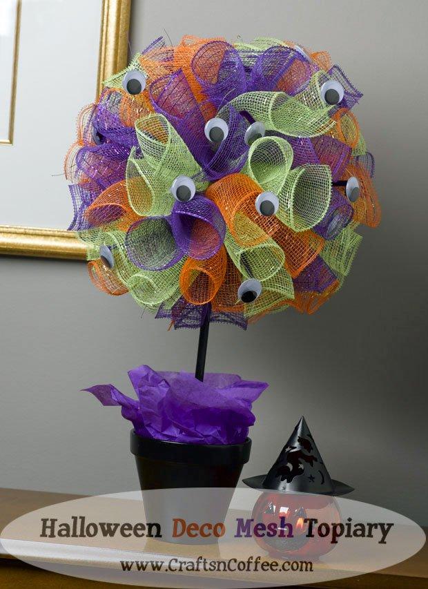 Quick DIY Halloween Topiary