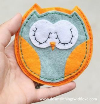 Felt Owl Pouch Tutorial
