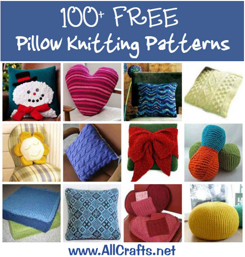 100+ Free Pillow Knitting Patterns   AllCrafts Free Crafts Update