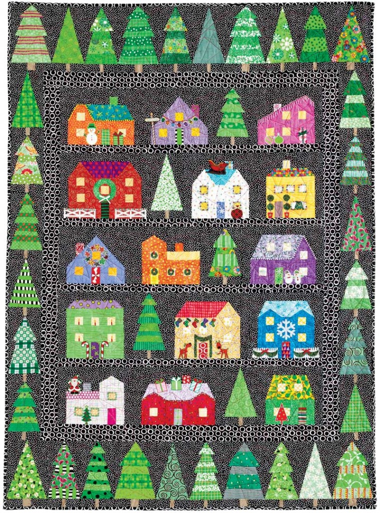 Quilting Patterns Xmas Free : First Snow Christmas Series Quilt AllCrafts Free Crafts Update