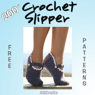 100+ Free Crochet Slipper Patterns