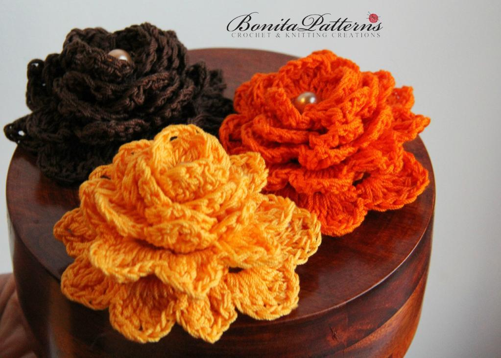 Crochet Patterns Of Flowers : Gratitude Flower Crocheting Pattern - AllCrafts Free Crafts Update