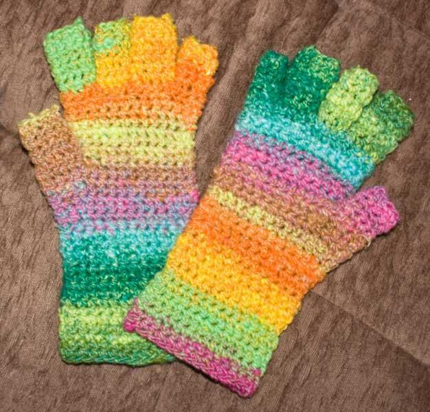 No Sew Fingerless Gloves Crochet Pattern Allcrafts Free Crafts Update