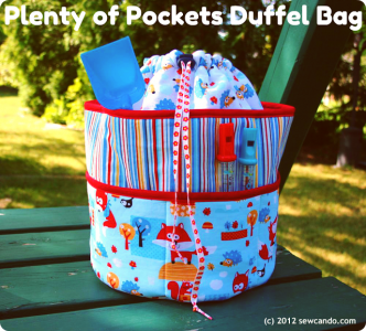 Pockets Duffle Bag Free Sewing Patterns