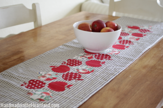 DIY Apple Table Runner