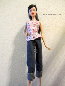 Barbie Doll Blue Jeans Sewing Pattern