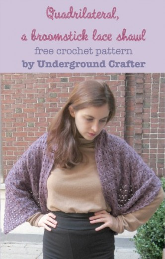 Broomstick Lace Shawl Pattern
