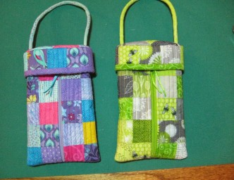Small Quilted Tote with Attached Lid