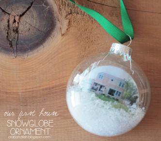 DIY Miniature House Snowglobe Ornaments