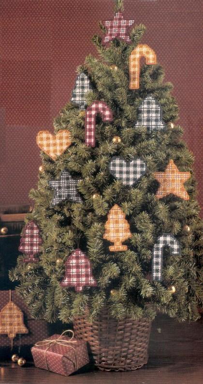 Plaid Christmas Ornaments Plastic Canvas Patterns