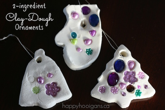 2-Ingredient White Clay Dough Ornaments