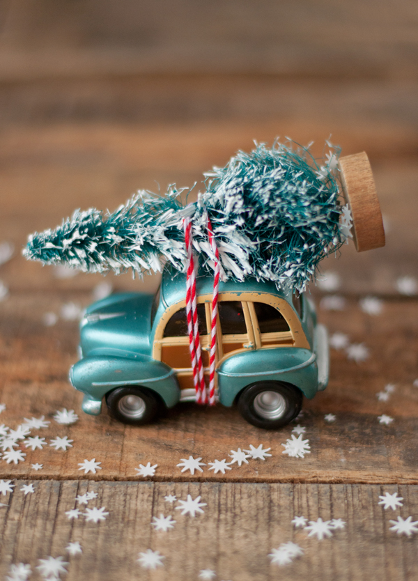 Car and Tree Ornament