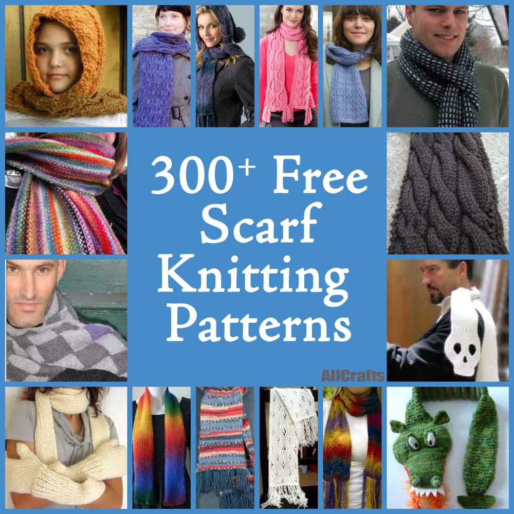 300+ Free Scarf Knitting Patterns – AllCrafts Free Crafts Update