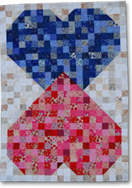 Hearts in Love Free Quilt Pattern