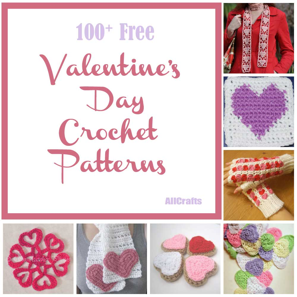 100+ Free Valentine?s Day Crochet Patterns - AllCrafts Free Crafts ...
