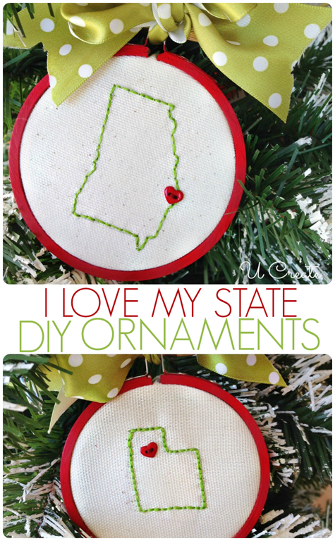 DIY State Ornament